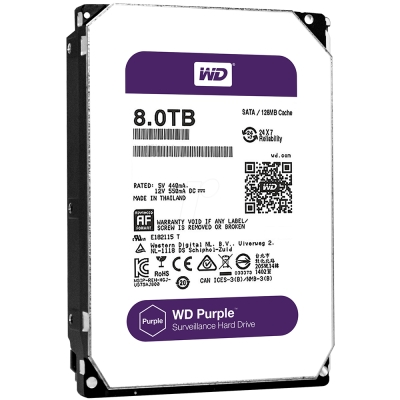 WD80PURZ 紫標 8TB 3.5吋監控系統硬碟