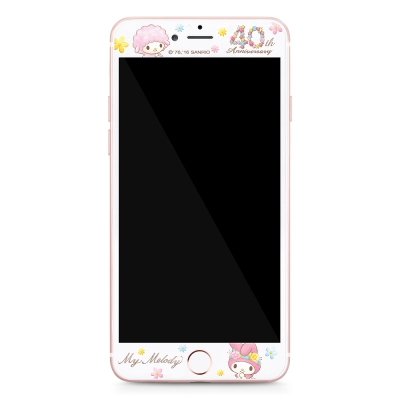 GARMMA My Melody iPhone 6/6S+ 5.5吋鋼化玻璃膜-繁花盛開