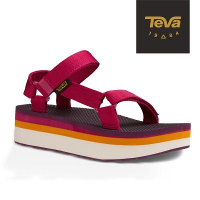 TEVA 美國-女 Flatform Universal 織帶厚底涼鞋 (桑格利紅)