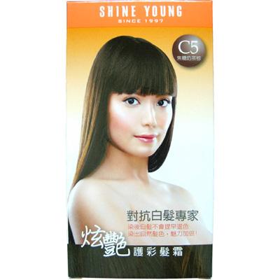 炫艷護彩髮霜C5焦糖奶茶棕-40ml