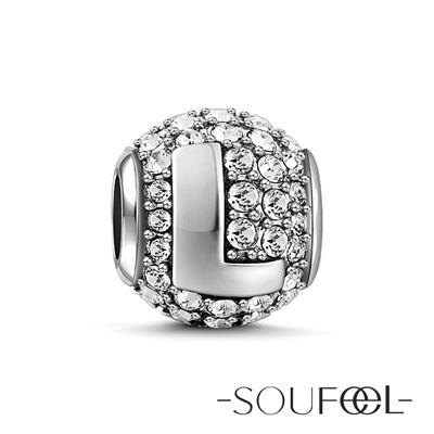 SOUFEEL索菲爾 925純銀珠飾 字母 L 串珠