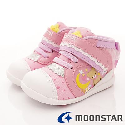 日本Carrot機能童鞋-護踝學步款BON014粉(寶寶段)T