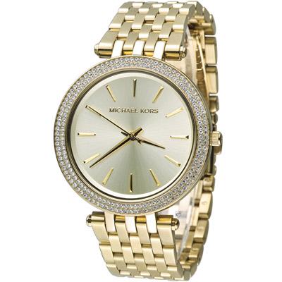 Michael Kors 紐約都會 Party Queen 時尚腕錶-金色/39mm
