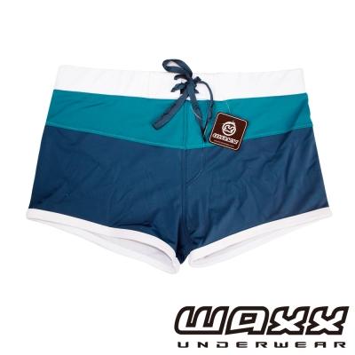 WAXX 經典系列-百搭三色吸濕排汗泳褲(藍色)