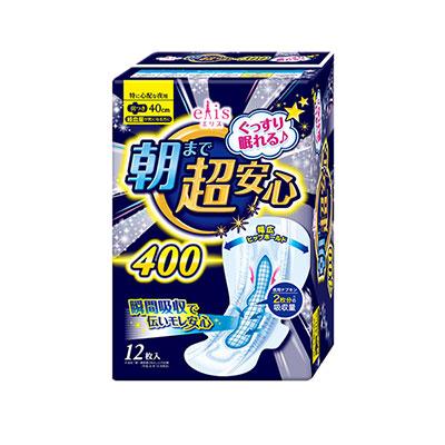 日本大王elis超安心舒眠夜用蝶翼40cm(12片/包)