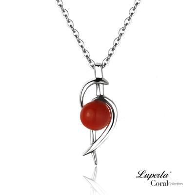 【大東山珠寶】全紅珊瑚閃耀項鍊墬飾 0295