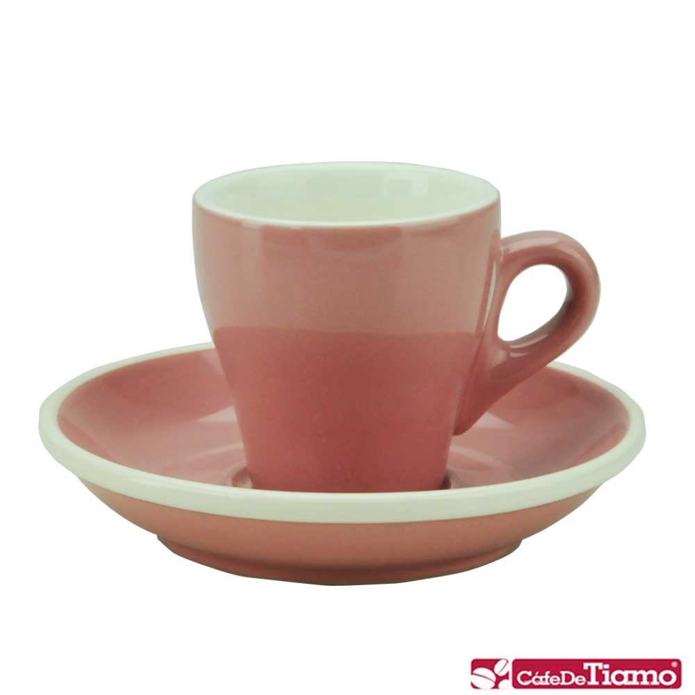 Tiamo 17號鬱金香濃縮杯盤組5客 90cc-粉紅色(HG0850PK)