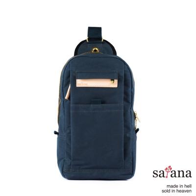 satana-街頭時尚斜肩包-午夜藍