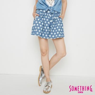 SOMETHING 點點俏麗裙褲-女-漂淺藍