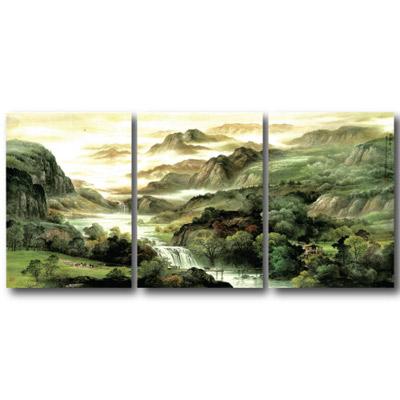 橙品油畫布- 三聯無框圖畫藝術家飾品 - 雲天高誼30*40cm