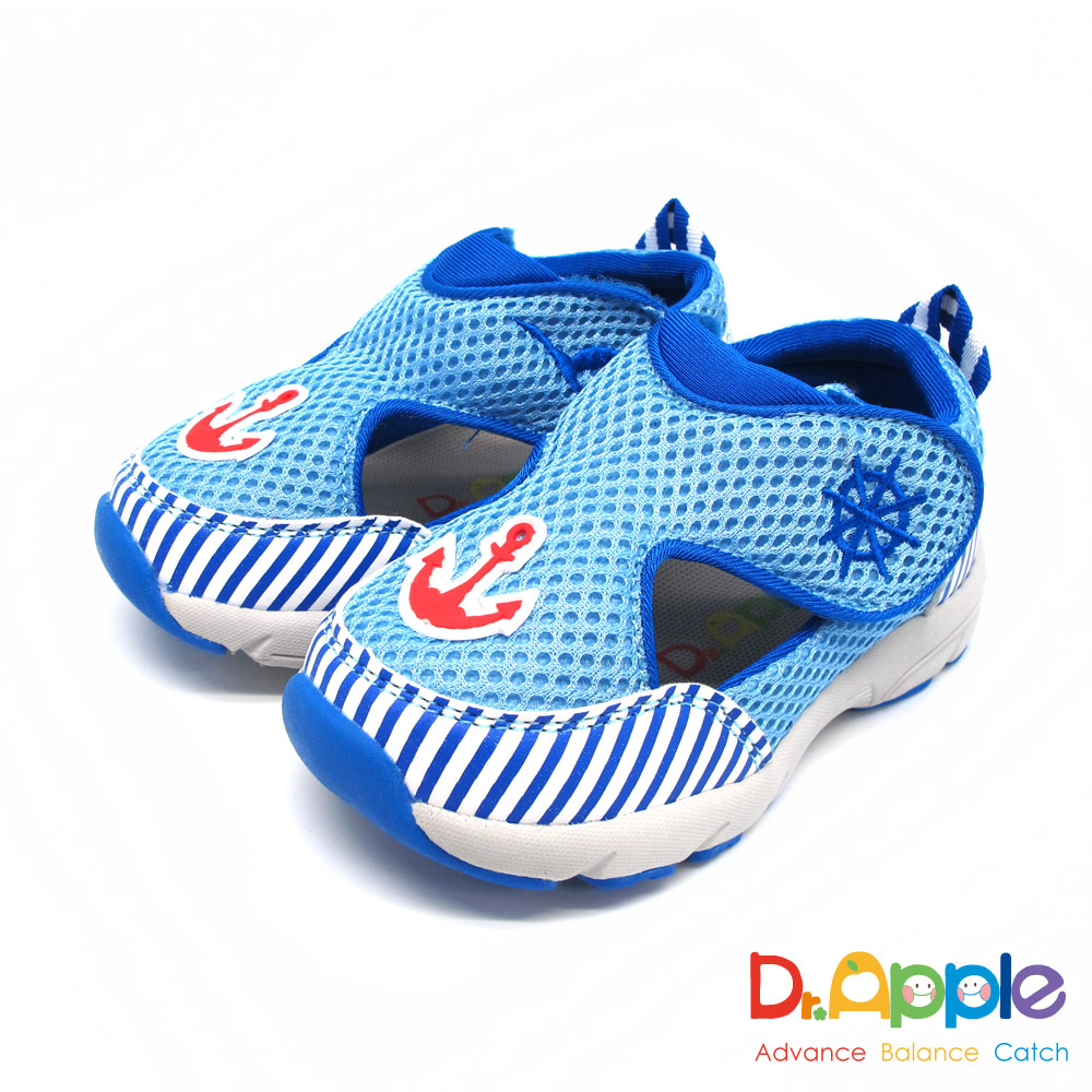Dr. Apple 機能童鞋 航海水手風透氣涼鞋款  藍
