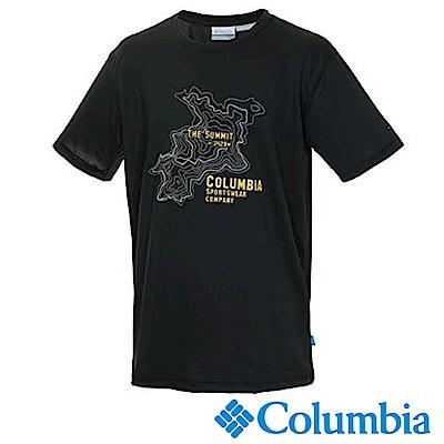 Columbia 哥倫比亞 男款-冰涼快排防曬短袖上衣 黑 UPM12180