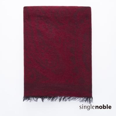 獨身貴族 藝術學院波斯織紋鬚邊綴飾披巾(2色)