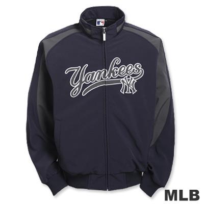 MLB-紐約洋基隊潛水布外套-深藍(男)