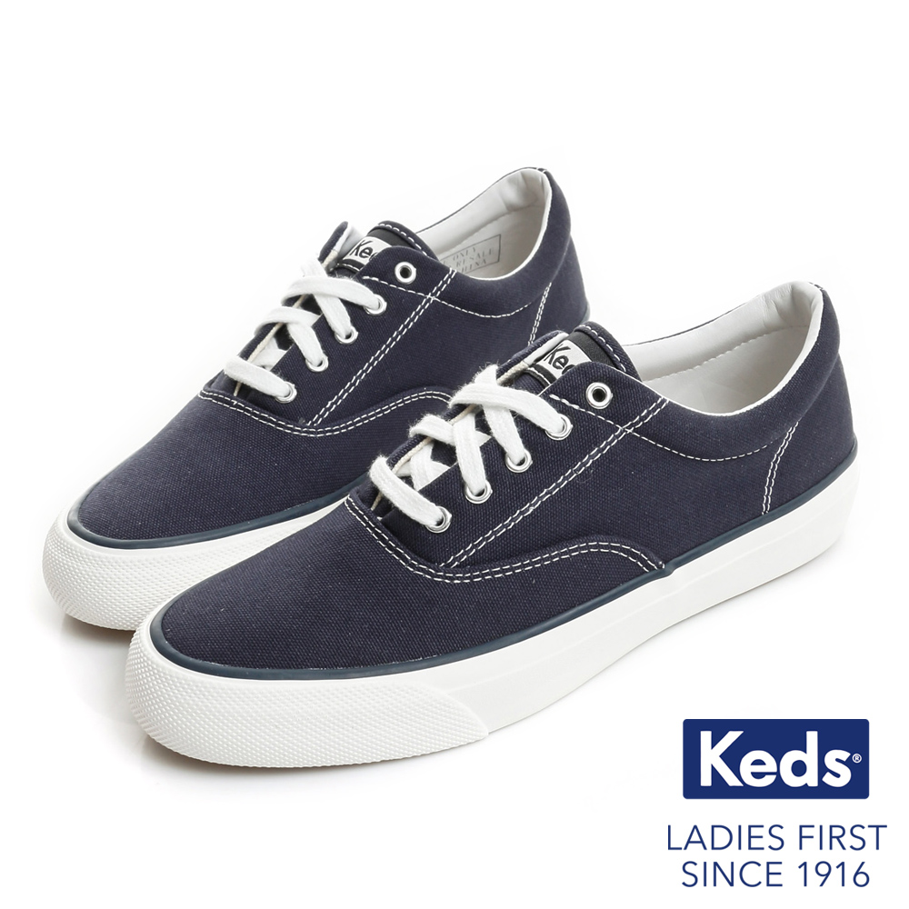 Keds ANCHOR 經典復刻綁帶休閒鞋-海軍藍