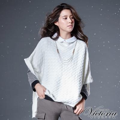 Victoria 斗篷式寬鬆線衫-女-白色