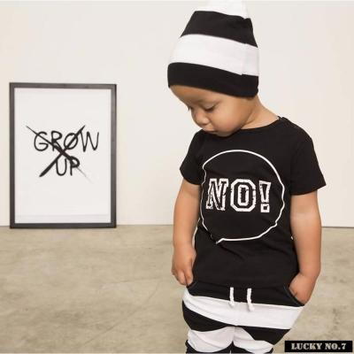 荷蘭 Lucky No.7 文字NO!黑色短袖T恤