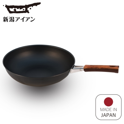 日本新瀉鐵器 鍛鐵炒鍋30cm