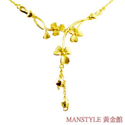 Manstyle「愛情開花」黃金小套鍊