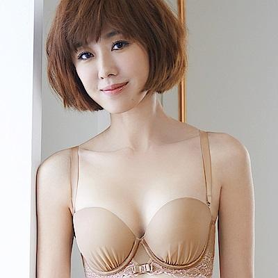 Audrey-迷戀峰華 半罩款B-D罩成套內衣(粉膚色)