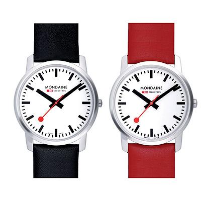 Mondaine 瑞士國鐵藍寶石水晶薄型腕錶-兩色任選/36mm
