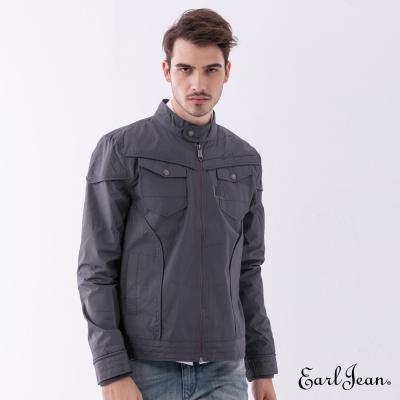 Earl Jean 大口袋軍裝夾克-灰色-男