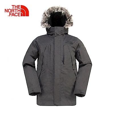 The North Face北面男款灰色保暖羽絨外套