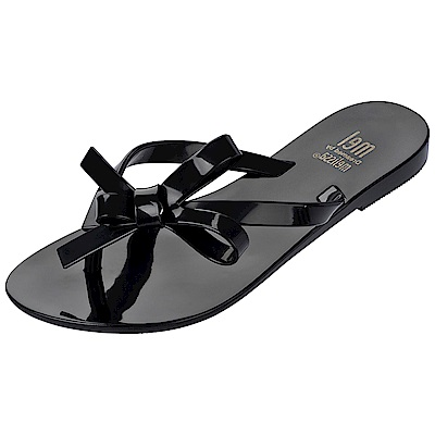 MEL 蝴蝶繫帶夾腳鞋-童-黑色