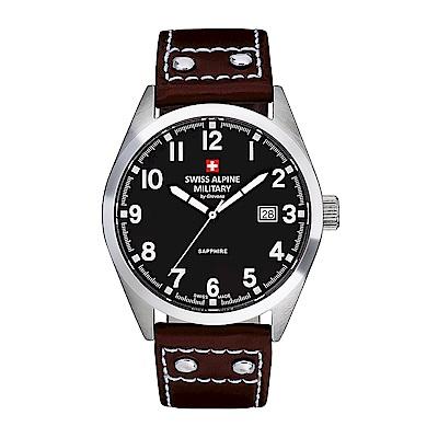 阿爾卑斯 S.A.M -獨家限定-指揮官系列-黑色錶盤/皮帶/41mm