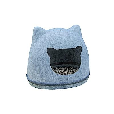 MDOBI摩多比-貓丸家 犬貓用 拉鍊毛氈窩(大頭貓款)