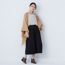 女有機棉法蘭絨長版套衫粉米S