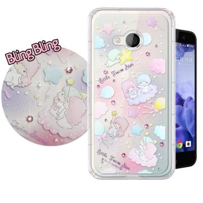 正版雙子星 HTC U Play 5.2吋 施華洛世奇 彩鑽氣墊保護殼(氣球)