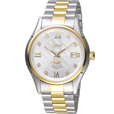 愛其華 Ogival尊榮交至時尚腕錶-40mm/銀白x金色