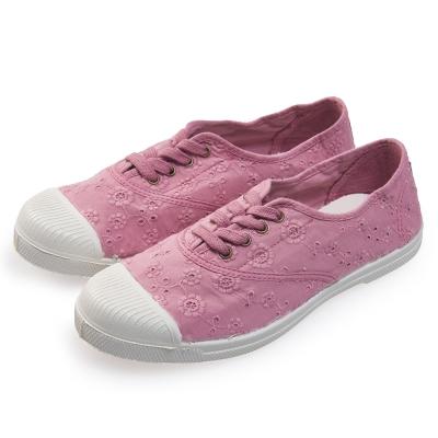 (女)Natural World 西班牙休閒鞋 印花4孔基本款*粉色