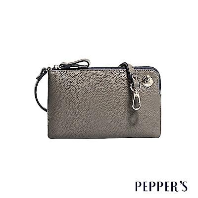 PEPPER`S Doris 牛皮手機隨身包 - 迷霧灰