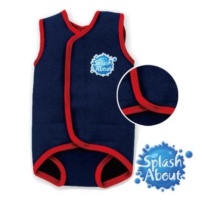 潑寶 Splash About 包裹式保暖泳衣 - 海軍藍 / 紅色