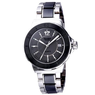 Vaness 率性自我都會腕錶-灰/35mm