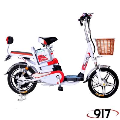 9I7 電動 48鉛酸 LED 輕便 腳踏助力 電動輔助自行車 白紅