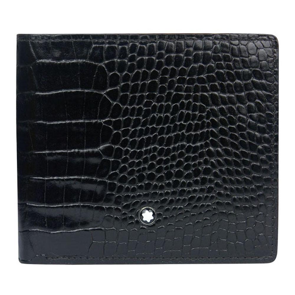 【萬寶龍】鱷魚紋4卡零錢包皮夾