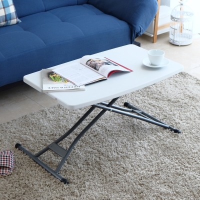 EASY HOME-防水多段升降萬用桌-76.2x49.5x42-71cm