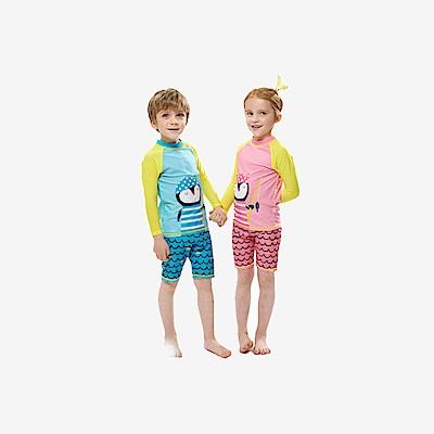 Biki比基尼妮泳衣   企鵝長袖兒童泳衣小朋友泳裝
