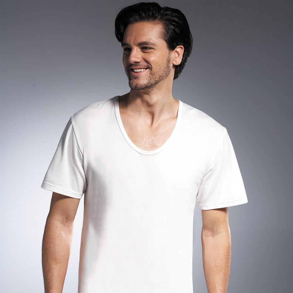DADADO 基礎系列 PIMA棉 M-LL短袖內衣(白)