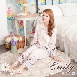 Emily Sweet 樂活熊三層柔綿睡衣+褲組