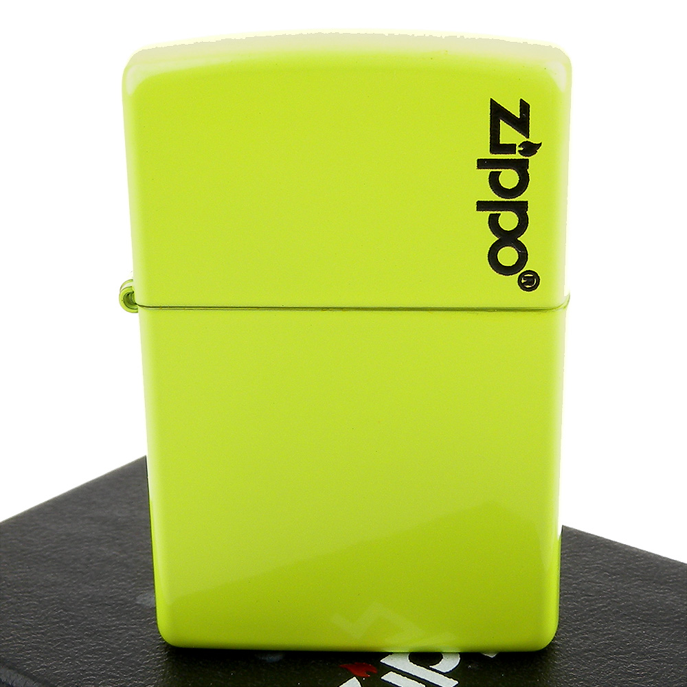 【ZIPPO】美系~LOGO字樣打火機-Neon Yellow-霓虹黃烤漆加工