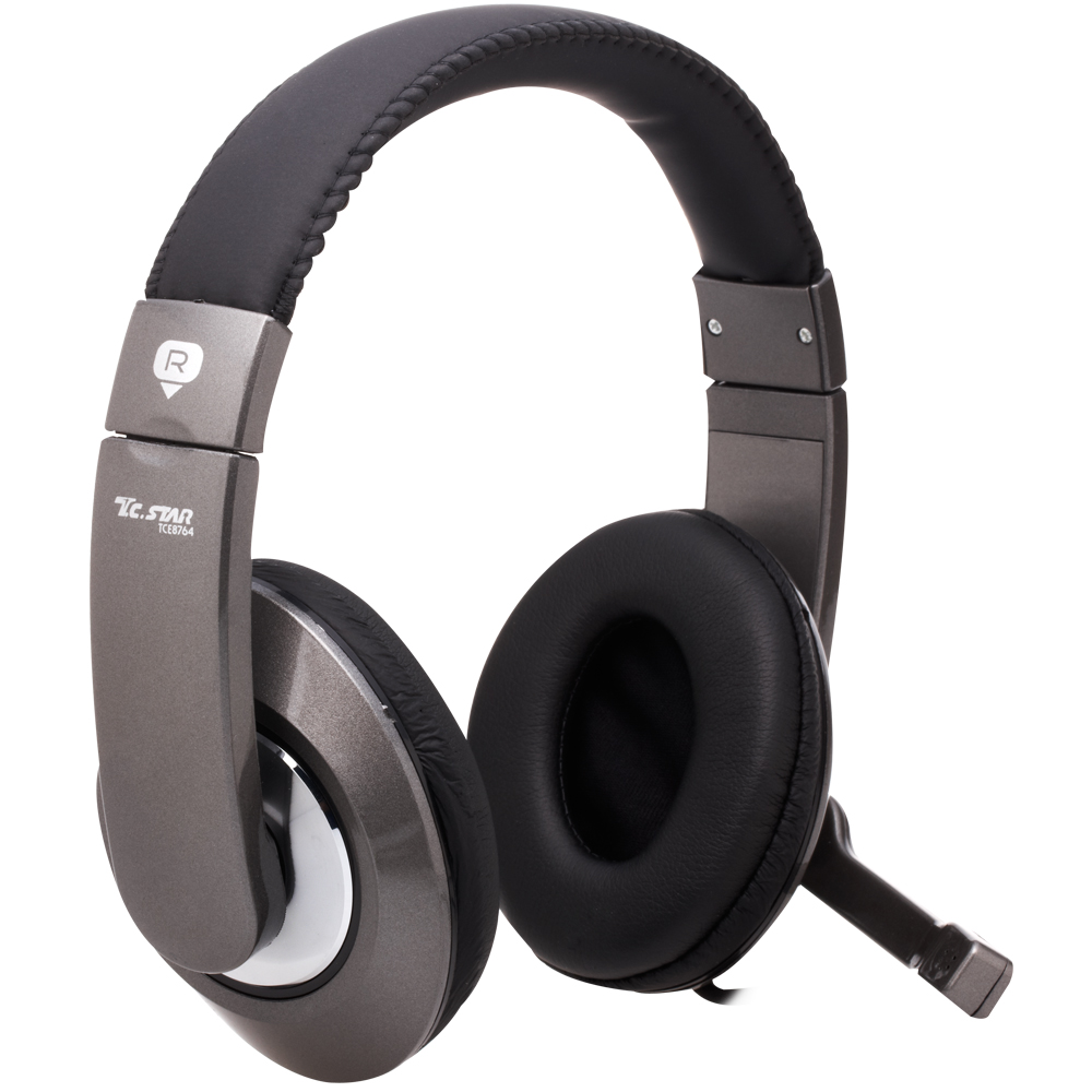 T.C.STAR雙耳頭戴式耳機麥克風TCE8764