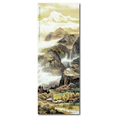 24mama掛畫 - 單聯無框圖畫藝術家飾品掛畫油畫-瑞雪伴春歸-30x80cm