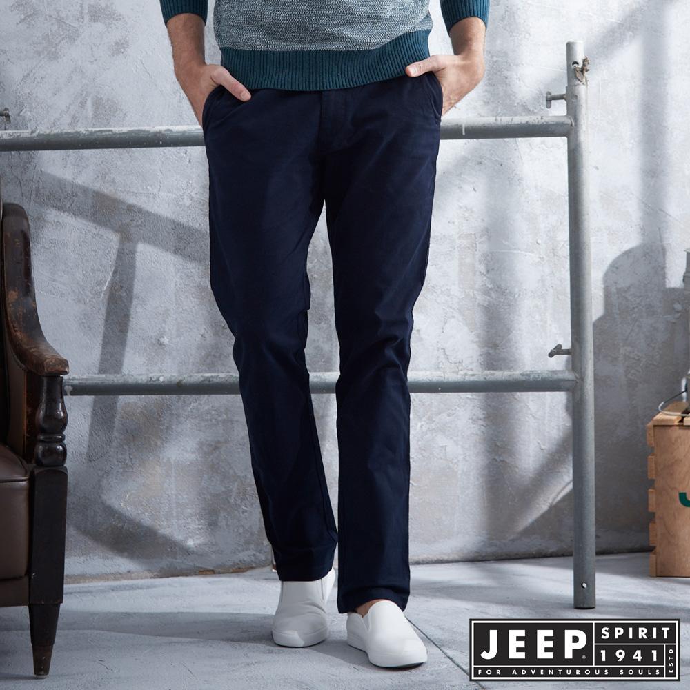 JEEP 美式經典休閒褲-深藍