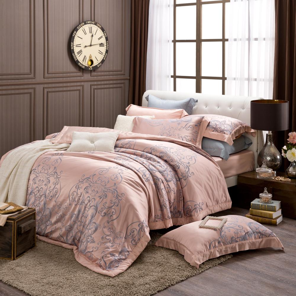 MONTAGUT-奧賽羅-200織紗天絲緹花-兩用被床包組(加大)+贈1被1毯