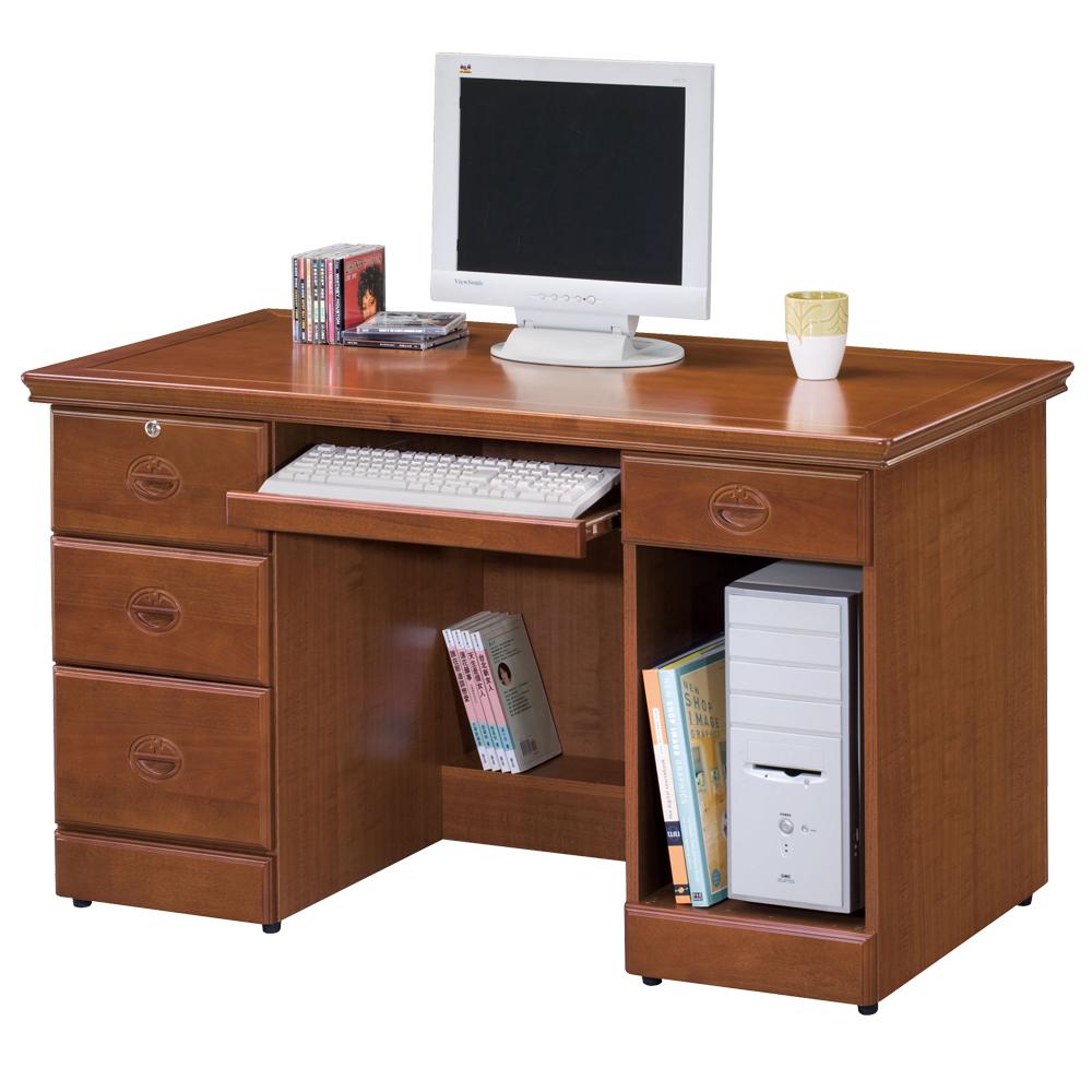 時尚屋 長榮樟木4.5尺電腦桌 寬126cm