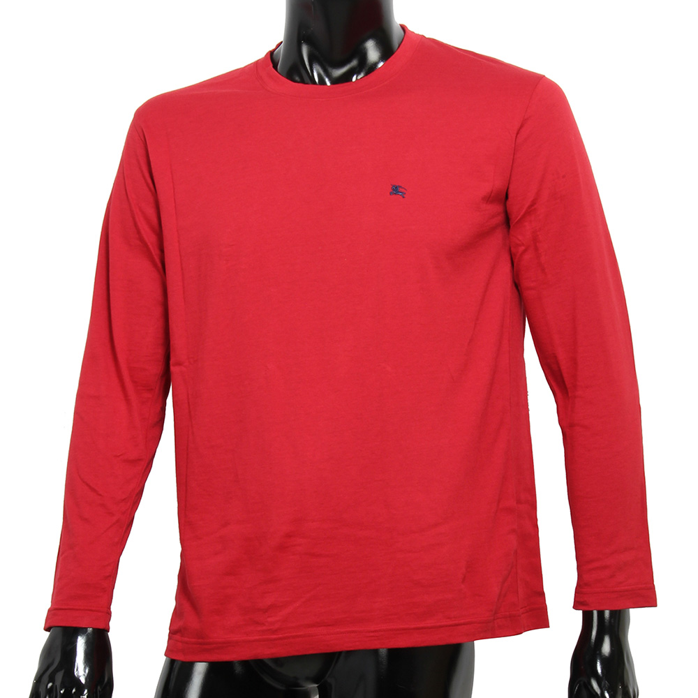 BURBERRY 戰馬LOGO透氣排汗棉質上衣-紅色